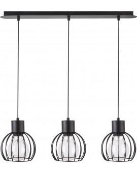 Deckenlampe Hängelampe Drahtlampe Design Metall Luto 3-flg Schwarz Matt 31156