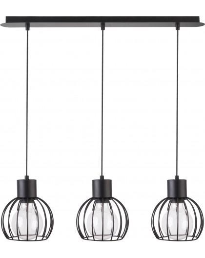 Hanging lamp Luto round 3 black mat 31156 Sigma