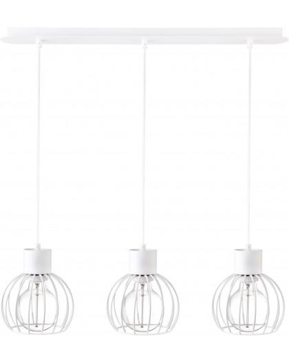 Deckenlampe Hängelampe Drahtlampe Design Metall Luto 3-flg Weiß Matt 31167