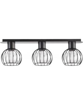 Ceiling lamp Luto round 3 black mat 31159 Sigma