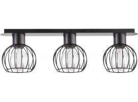 Deckenlampe Deckenleuchte Drahtlampe Design Metall Luto 3-flg Schwarz Matt 31159