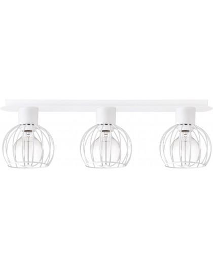 Deckenlampe Deckenleuchte Drahtlampe Design Metall Luto 3-flg Weiß Matt 31170