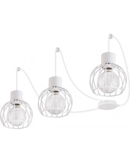 Deckenlampe Hängelampe Drahtlampe Design Metall Luto 3-flg Weiß Matt 31162