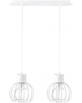 Deckenlampe Hängelampe Drahtlampe Design Metall Luto 2-flg Weiß Matt 31166