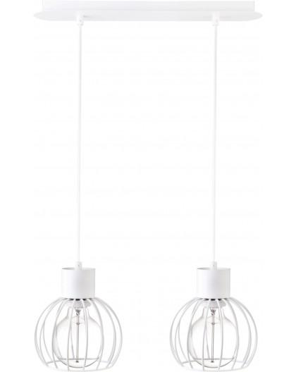 Hanging lamp Luto round 2 white mat 31166 Sigma