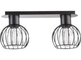 Deckenlampe Deckenleuchte Drahtlampe Design Metall Luto 2-flg Schwarz Matt 31158
