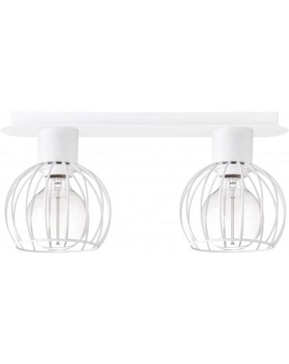 Deckenlampe Deckenleuchte Drahtlampe Design Metall Luto 2-flg Weiß Matt 31169