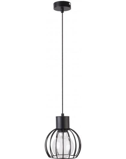 Deckenlampe Hängelampe Drahtlampe Design Metall Luto 1-flg Schwarz Matt 31154