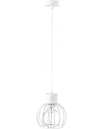 Deckenlampe Hängelampe Drahtlampe Design Metall Luto 1-flg Weiß Matt 31165