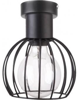 Deckenlampe Deckenleuchte Drahtlampe Design Metall Luto 1-flg Schwarz Matt 31157