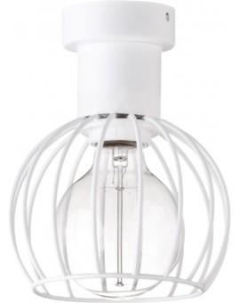 Deckenlampe Deckenleuchte Drahtlampe Design Metall Luto 1-flg Weiß Matt 31168