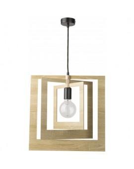 Lampe Deckenlampe Hängelampe Modern Design Holz Glam Quadrat 31361