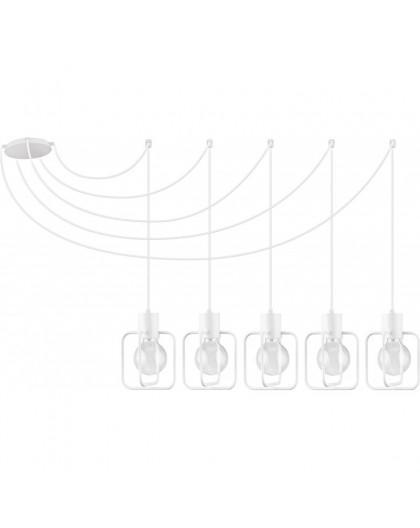 Lampa Zwis Aura kwadrat 5 biały połysk 31119 Sigma