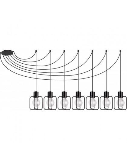 Lampa Zwis Aura kwadrat 7 czarny połysk 31109 Sigma