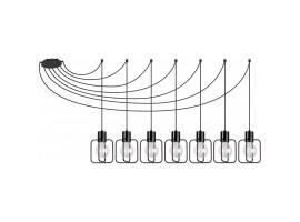 Hanging lamp Aura kwadrat 7 black połysk 31109 Sigma
