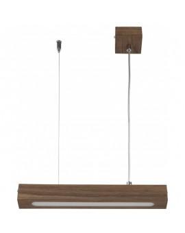 Deckenlampe Hängelampe Modern Design Futura Wood Low 30 Holz Nussbaum 32702
