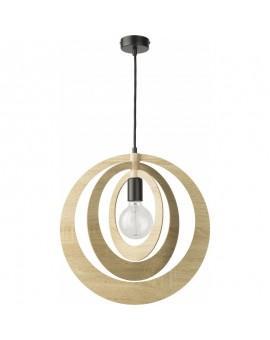 Lampe Deckenlampe Hängelampe Modern Design Holz Glam Kreis 31363