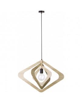 Lampe Deckenlampe Hängelampe Modern Design Holz Glam Raute 31279