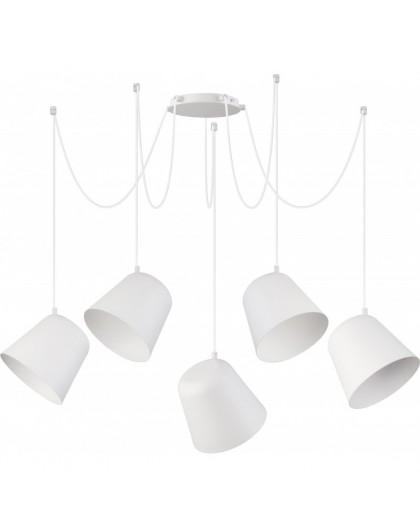 Lampa Zwis podwieszany Jawa 5 biały 31385 Sigma