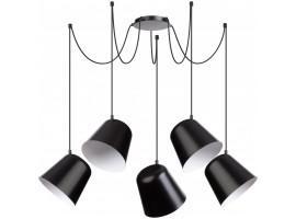 Deckenlampe Hängelampe Modern Design zum Aufhängen Jawa 5 Schwarz 31388