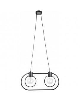 Lampe Deckenlampe Hängelampe Drahtlampe Loft FREDO Rund Schwarz 31521