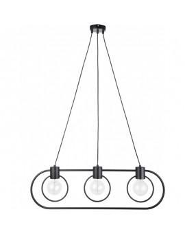 Lampe Deckenlampe Hängelampe Drahtlampe Loft FREDO Rund Schwarz 31525