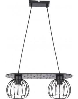 Lampe Deckenlampe Hängelampe WISTA Schwarz 2 31624