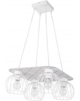 Hanging lamp WISTA white 4 31633 SIGMA