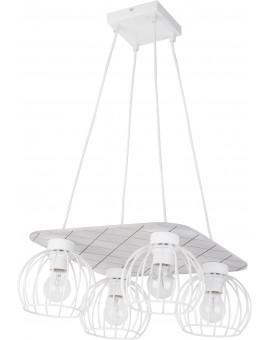 Lampe Deckenlampe Hängelampe WISTA Weiß 4 31633