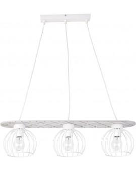 Lampe Deckenlampe Hängelampe WISTA Weiß 3 31629