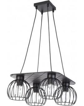 Lampe Deckenlampe Hängelampe WISTA Schwarz 4 31632