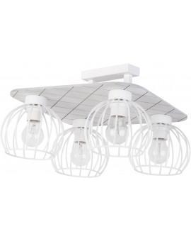 Lampe Deckenlampe Deckenleuchte WISTA Weiß 4 31635