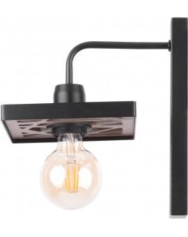 Wandlampe Wandleuchte Vintage Loft Edison Retro MAGNUM schwarz 31739