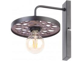 Wall Lamp retro vintage style MAGNUM STONE Round Black 31730 SIGMA