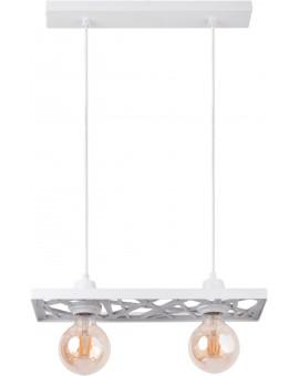 Hanging lamp Ceiling lamp retro vintage style MAGNUM Openwork Rectangle White 31846 SIGMA