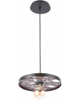 Hanging lamp Ceiling lamp retro vintage style MAGNUM Openwork Round Black 31735 SIGMA