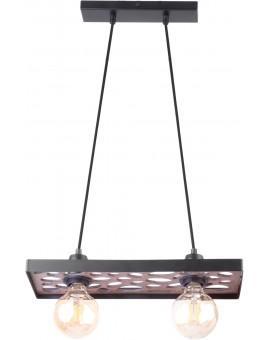 Hanging lamp Ceiling lamp retro vintage style MAGNUM STONE Rectangle Black 31732 SIGMA