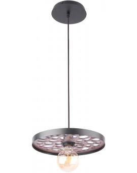 Hanging lamp Ceiling lamp retro vintage style MAGNUM STONE Round Black 31729 SIGMA