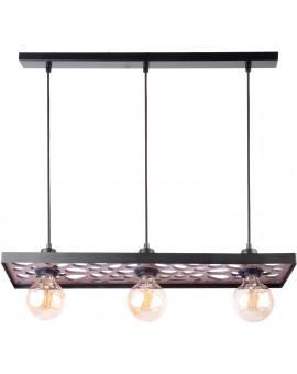 Hanging lamp Ceiling lamp retro vintage style MAGNUM STONE Rectangle Black 31731 SIGMA