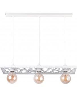 Hanging lamp Ceiling lamp retro vintage style MAGNUM Openwork Rectangle White 31845 SIGMA