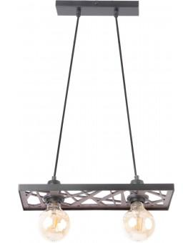 Hanging lamp Ceiling lamp retro vintage style MAGNUM Openwork Rectangle Black 31738 SIGMA