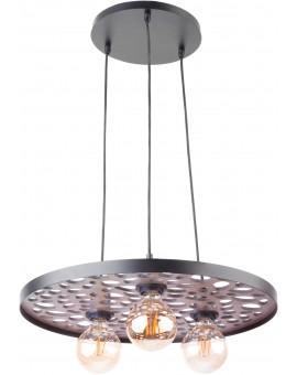 Hanging lamp Ceiling lamp retro vintage style MAGNUM STONE Round Black 31728 SIGMA
