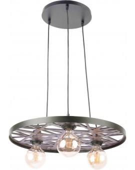 Hanging lamp Ceiling lamp retro vintage style MAGNUM Openwork Round Black 31734 SIGMA