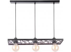 Hanging lamp Ceiling lamp retro vintage style MAGNUM Openwork Rectangle Black 31737 SIGMA