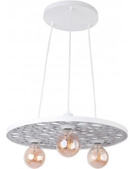 Hanging lamp Ceiling lamp retro vintage style MAGNUM STONE Round White 31836 SIGMA