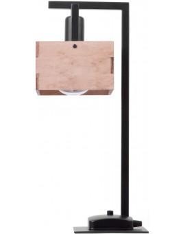 Lampe Tischlampe Nachtlampe DAKOTA Beige Holz Metall 50161