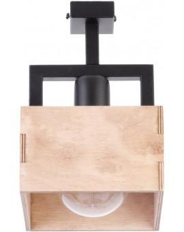 WIRE CEILING LAMP  DAKOTA 1 BEIGE WOOD AND METAL 31745 SIGMA