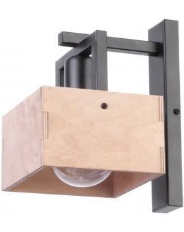 Lampe Wandlampe Wandleuchte DAKOTA Modern Beige Holz Metall 31753