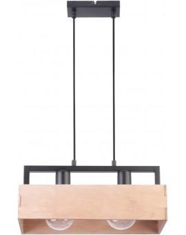 Lampe Deckenlampe Hängelampe DAKOTA Modern Design Beige Holz Metall 31749