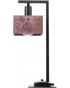 Lampe Tischlampe Nachtlampe DAKOTA Modern Design Holz Metall 50160